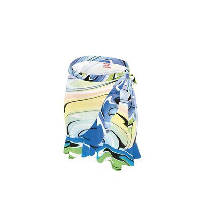 Short Flounce Skirt - Multicolour Swirling Marble Pattern 9 of 12