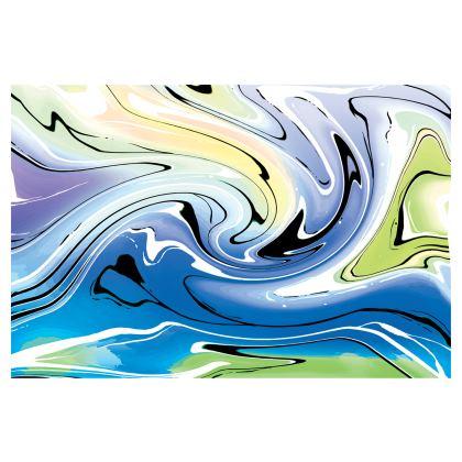 Midi Skirt - Multicolour Swirling Marble Pattern 9 of 12