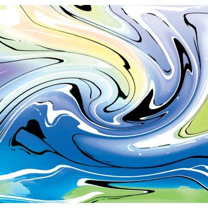 Long Slip Dress - Multicolour Swirling Marble Pattern 9 of 12