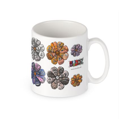 Bright Coloured Creature Flower Mug