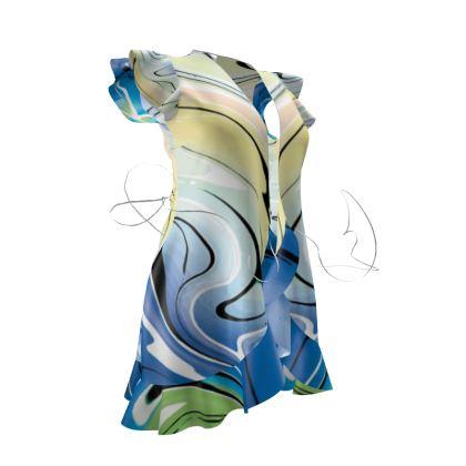 Tea Dress - Multicolour Swirling Marble Pattern 9 of 12