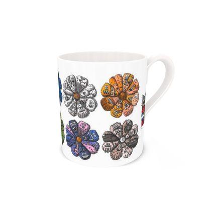Creature Flower Design Bone China Mug
