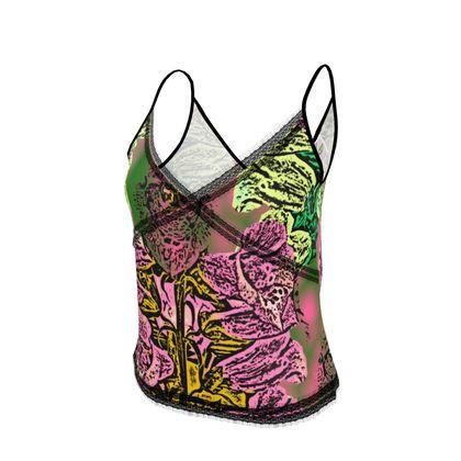 Pink, Green, Camisole  Foxglove  Tropical