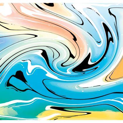 Skater Dress - Multicolour Swirling Marble Pattern 10 of 12