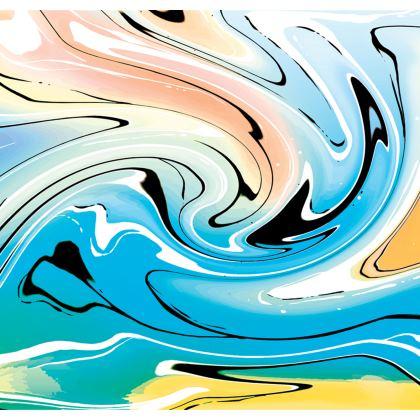 Long Slip Dress - Multicolour Swirling Marble Pattern 10 of 12