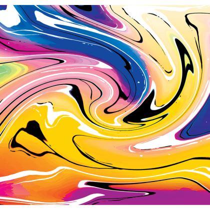 Skater Dress - Multicolour Swirling Marble Pattern 12 of 12