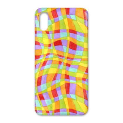 Candy Rainbow Plaid iPhone X Case