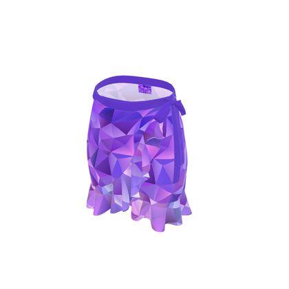 Flounce Skirt - Purple Prisms