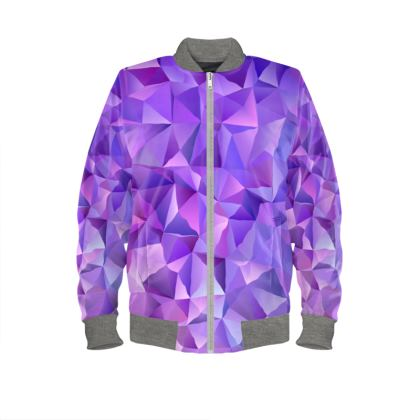 Ladies Bomber Jacket - Purple Prisms