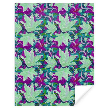 Green Mauve  Gift Wrap  Lily Garden  Viola