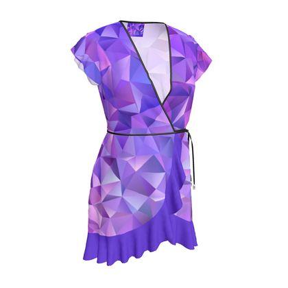 Tea Dress - Purple Prisms