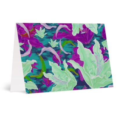 Mauve, Green  Occasions Cards  Lily Garden  Viola
