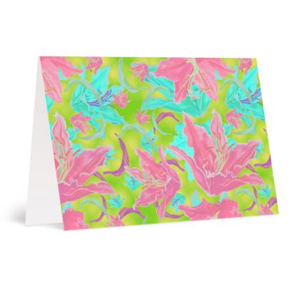 Pink, Green  Occasions Cards  Lilly Garden  Dragonfly