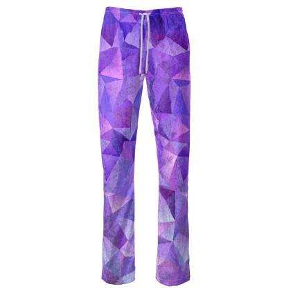 Womens Trousers - Purple Prisms
