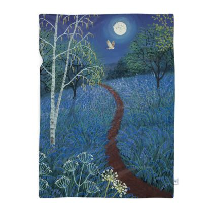 Blanket with Blue Moon design by Jo Grundy