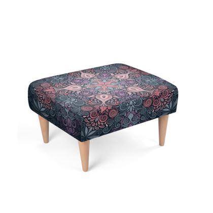 Vintage Baroque Style Footstool
