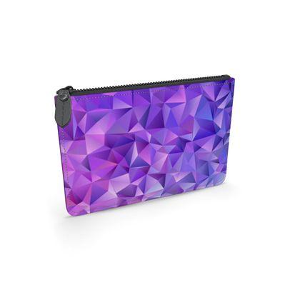 Leather Pouch - Purple Prisms