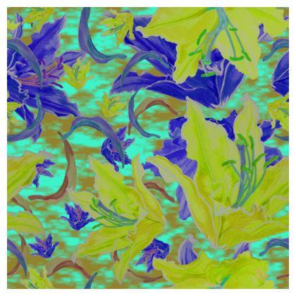 Yellow, Blue Cushions  Lily Garden  Lemon Lily