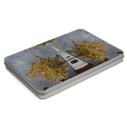 Autumn Light Tin Box Hinge Lid