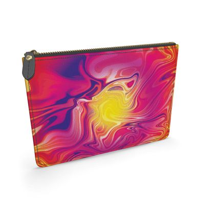 Leather Pouch - Eye of the Marble Sun 1