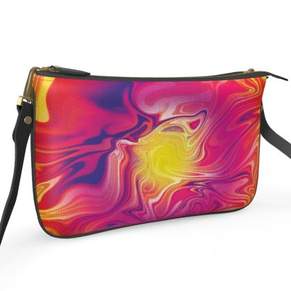 Pochette Double Zip Bag - Eye of the Marble Sun 1