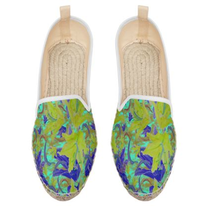 Yellow, Blue Loafer Espadrilles  Lily Garden  Lemon Lily