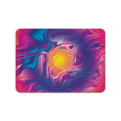 Leather Card Case - Eye of the Marble Sun 2