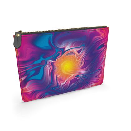 Leather Pouch - Eye of the Marble Sun 2
