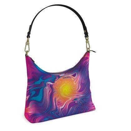 Square Hobo Bag - Eye of the Marble Sun 2