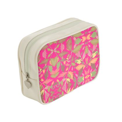 Pink Make Up Bags  Cathedral Leaves  Peony