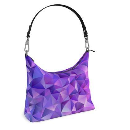 Square Hobo Bag - Purple Prisms