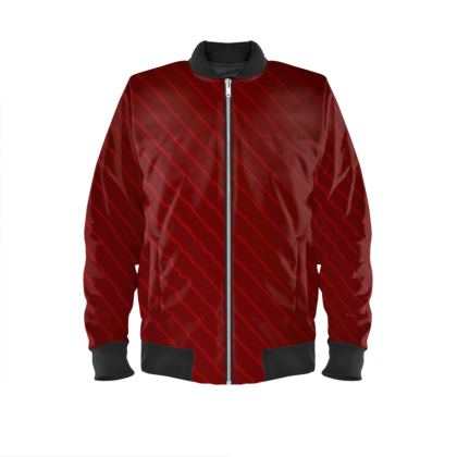 Mens Bomber Jacket - Red Wrap Stripe