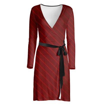 Wrap Dress - Red Wrap Stripe