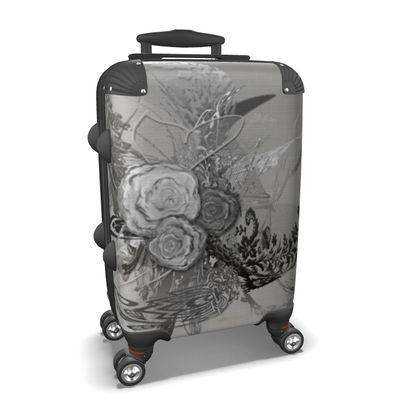 Suitcase (hand luggage) - Resväska  (handbagage) - 50 shades of lace grey silver