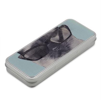 Cool Cat Pencil Case Box