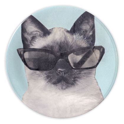 Cool Cat China Plates