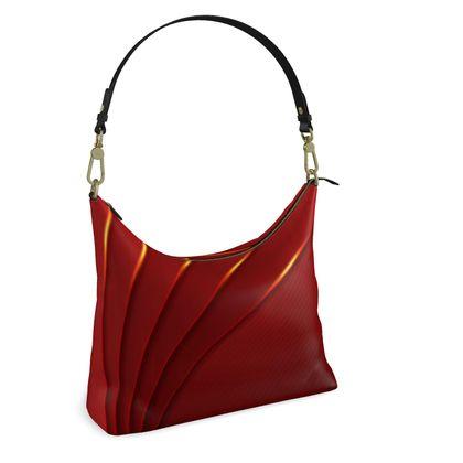 Square Hobo Bag - Red Wrap Stripe