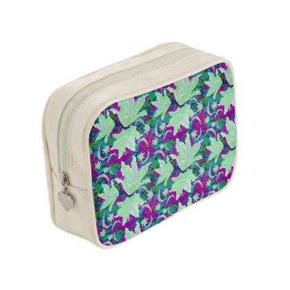 Green, Mauve  Make Up Bags  Lily Garden  Ravel