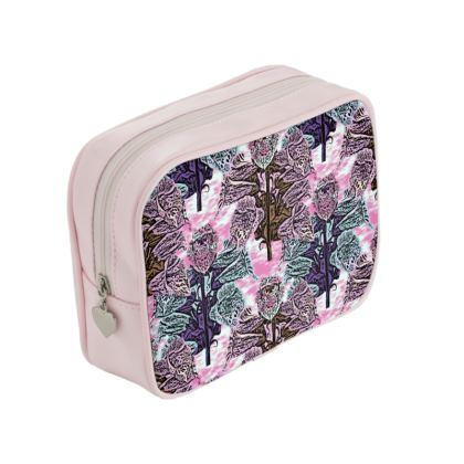 Pink, Tea, Make Up Bags  Foxglove  Shortcake
