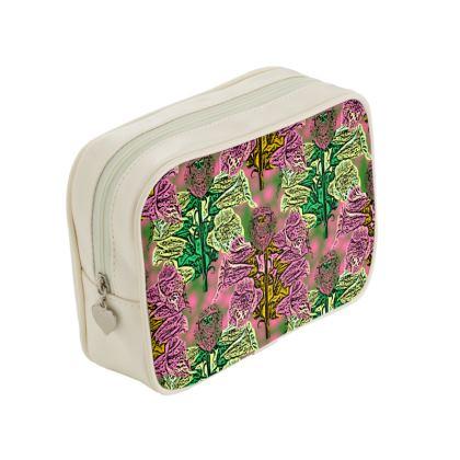 Pink, Green, Make Up Bags  Foxglove  Tropical