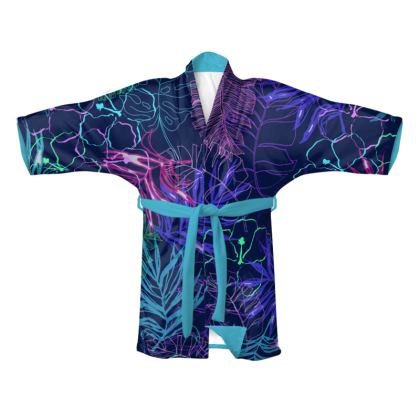 Midnight Leaves Kimono
