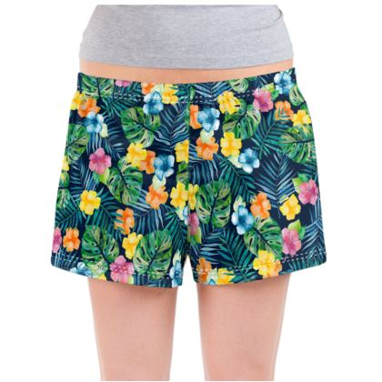 Tropic Petals Ladies Pyjama Shorts