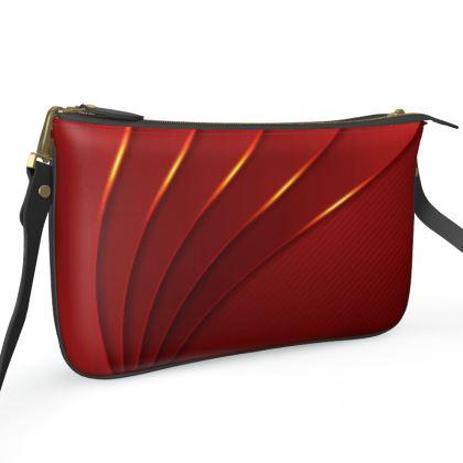 Pochette Double Zip Bag - Red Wrap Stripe
