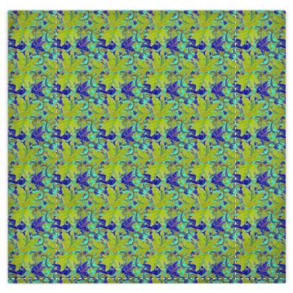 Yellow, Blue Duvet Cover, 2 Pillowcases  Lily Garden  Lemon Lily