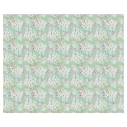 Green, lilac Curtains [pair format]  Moonlight  Meadow