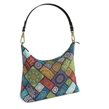 Square Hobo Bag - Lattice Of Life