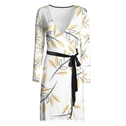 Yellow Summer Wrap Dress