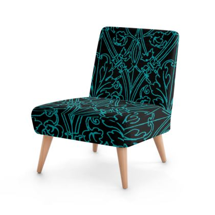 green patterned chair