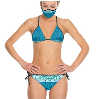 Aquamarine Textile Design Trikini