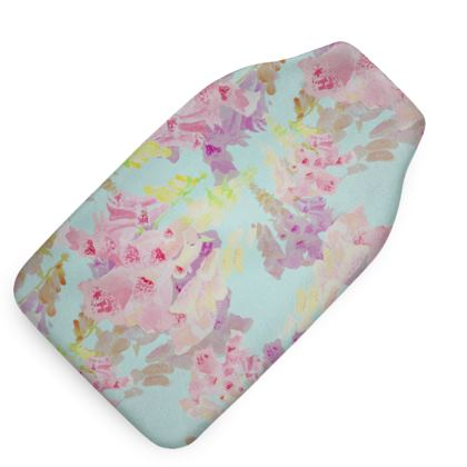 Turquoise, Pink Hot Water Bottle  Moonlight  Morning